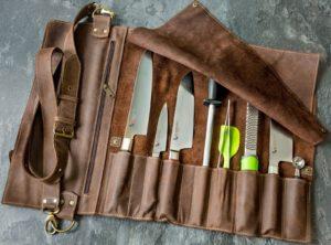 Скрутка для ножей Just Craft Шоколад с тиснением